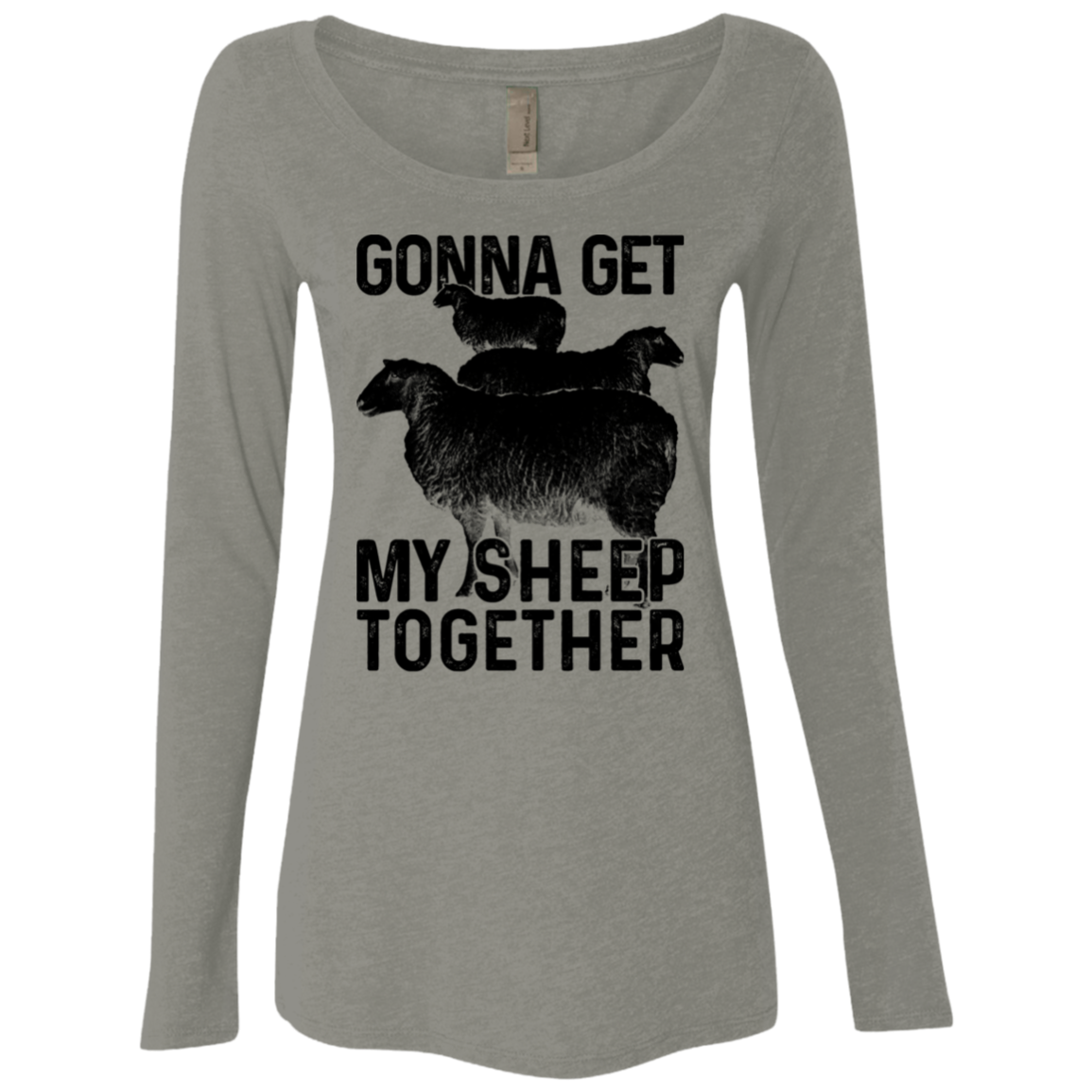 Gonna Get My Sheep Together Women's Long Sleeve Tee