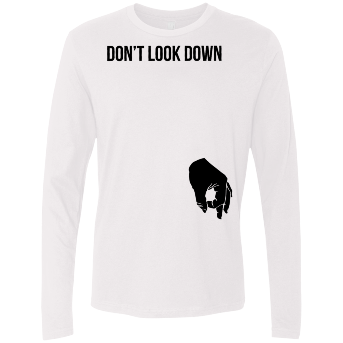 Don't Look Down The Circle Game Men's Long Sleeve Tee