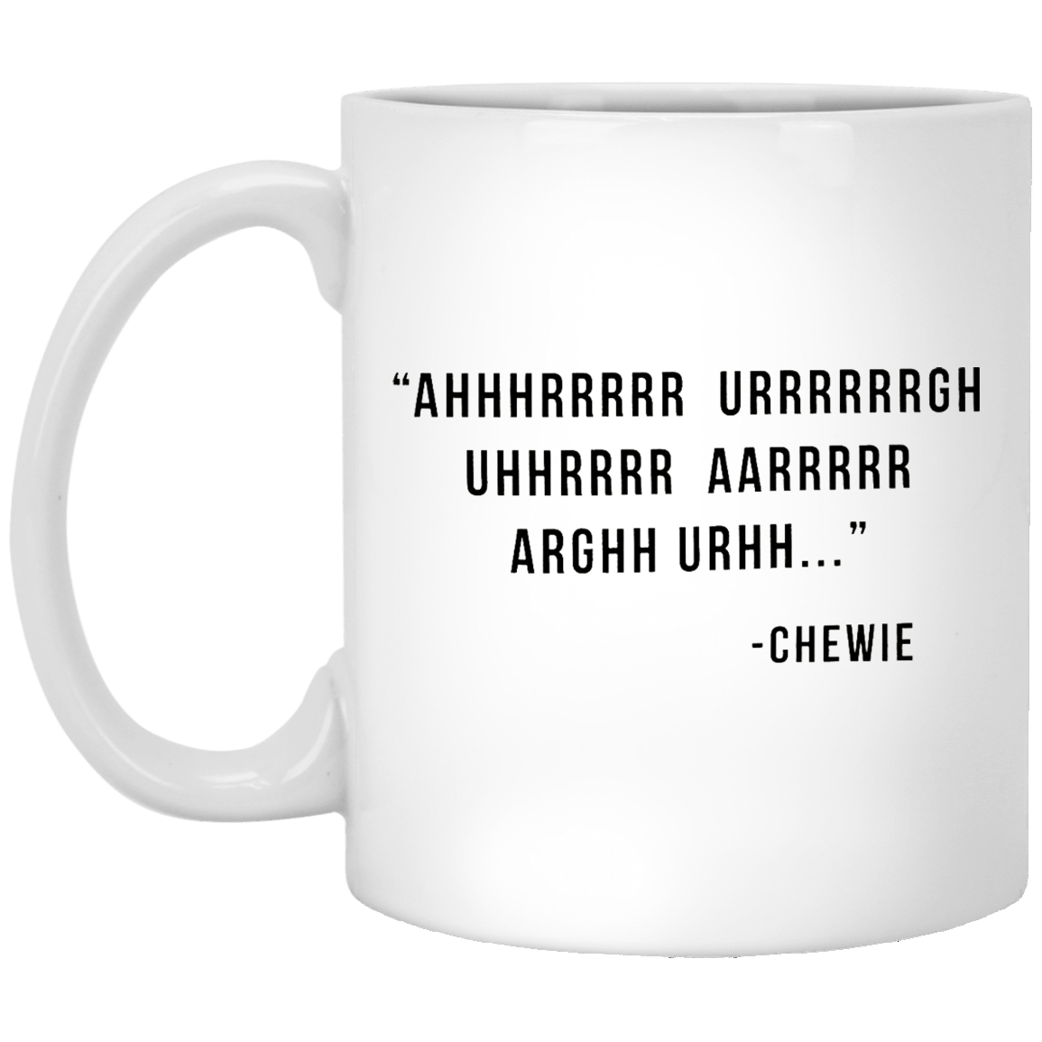 Chewie Talk Star Wars 11 oz. White Coffee Mug