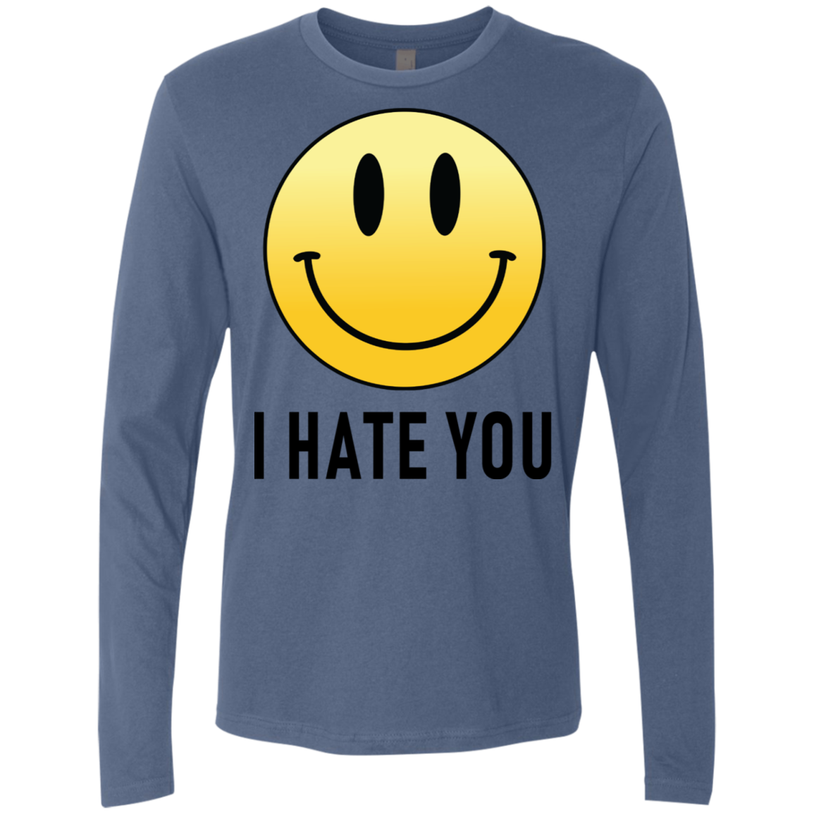 I Hate You Smiley Men's Long Sleeve Tee