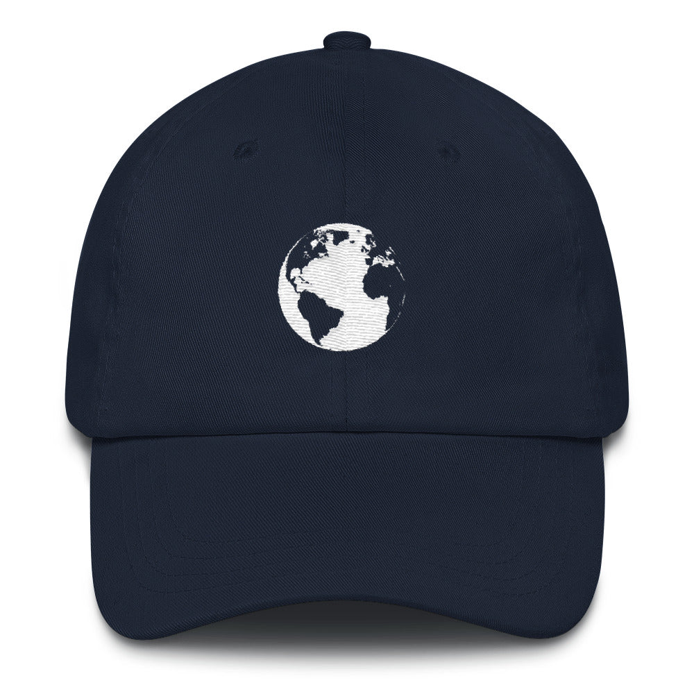 Planet Earth Embroidered Dad Hat