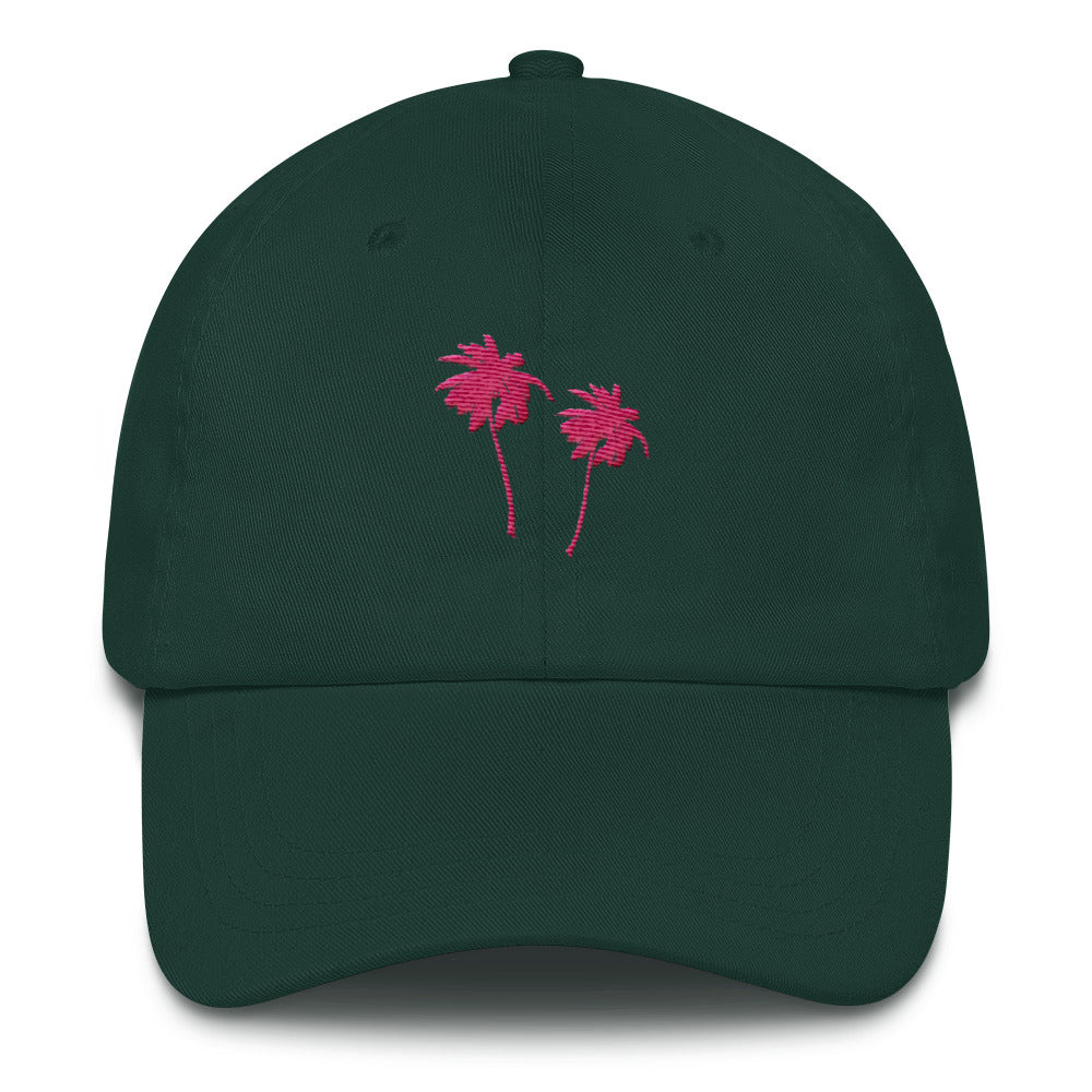 Miami Neon Palm Trees Lit Dad Hat