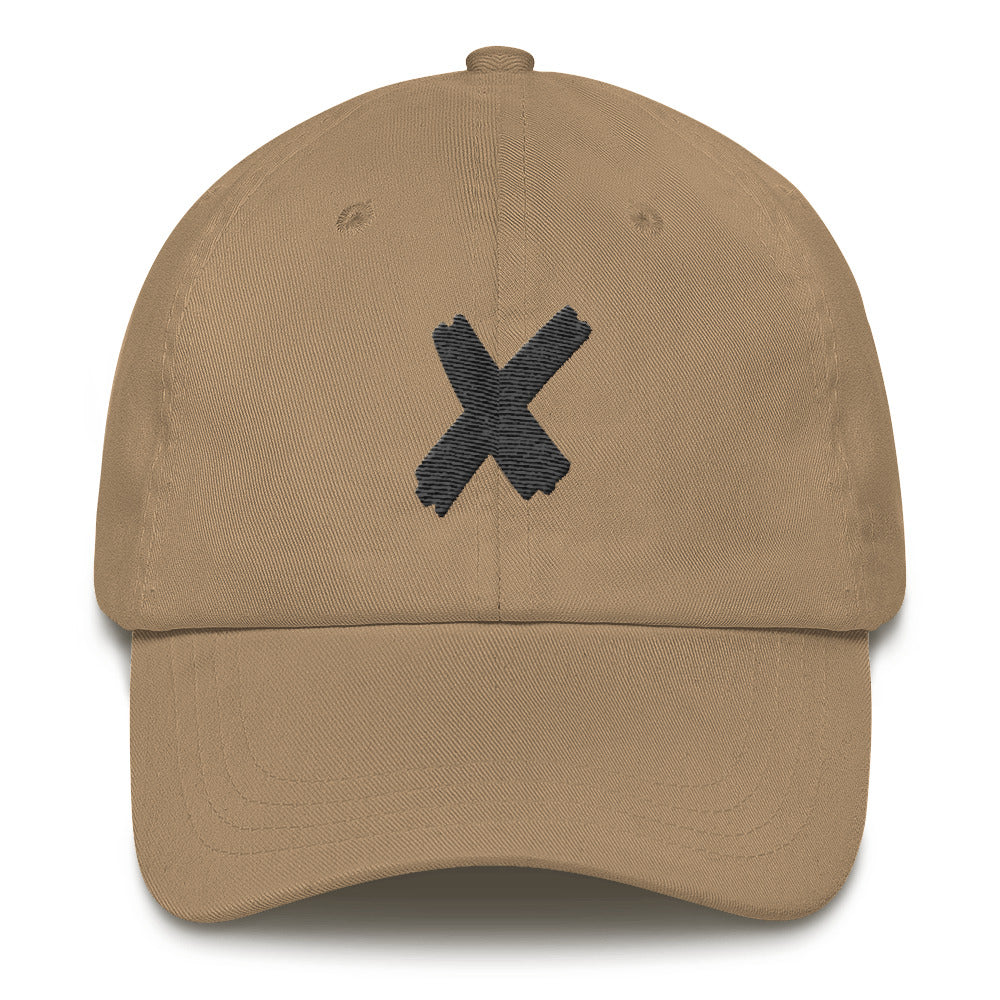 Letter X Embroidered Dad Hat
