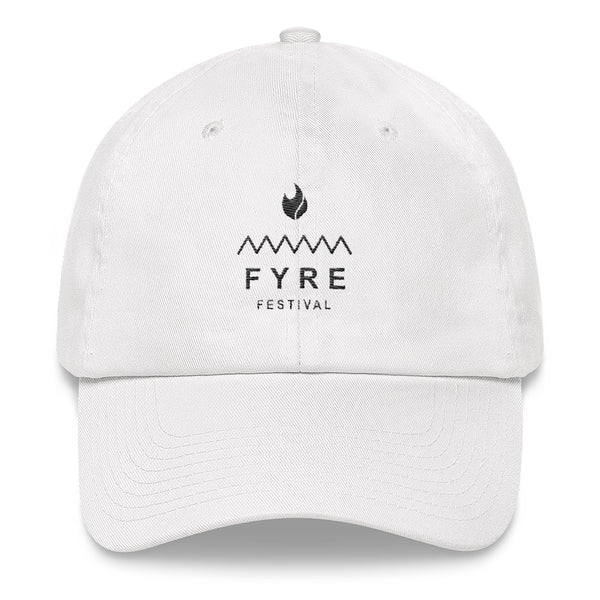 Fyre Festival Black Logo Lit Dad Hat - Trendy Tees