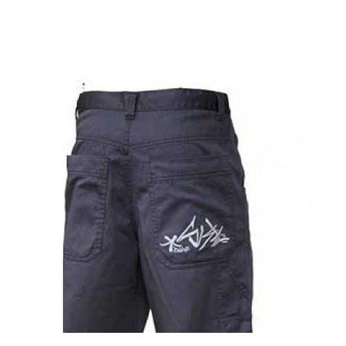 demin gry pant - Ghettoblastershop