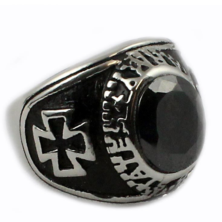 Stone cross anello ring - Ghettoblastershop