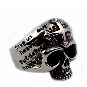 Skull cross anello ring - Ghettoblastershop