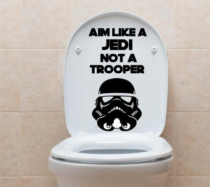 Aim like a Jedi and not a Trooper - Kreative Decals