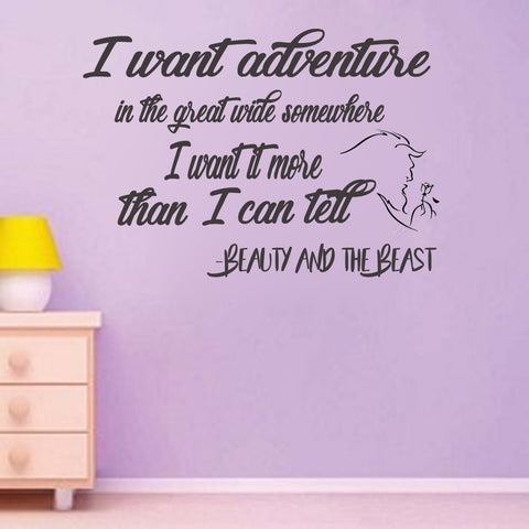 Beauty and the Beast vinyl wall decal movie saying - Kreative Decals