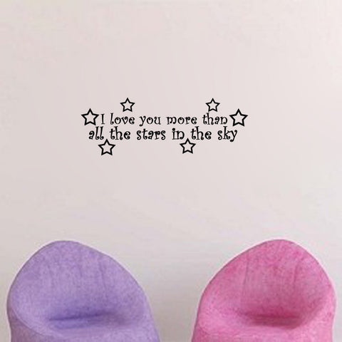 I Love You More Than All the Stars in the Sky - Kreative Decals