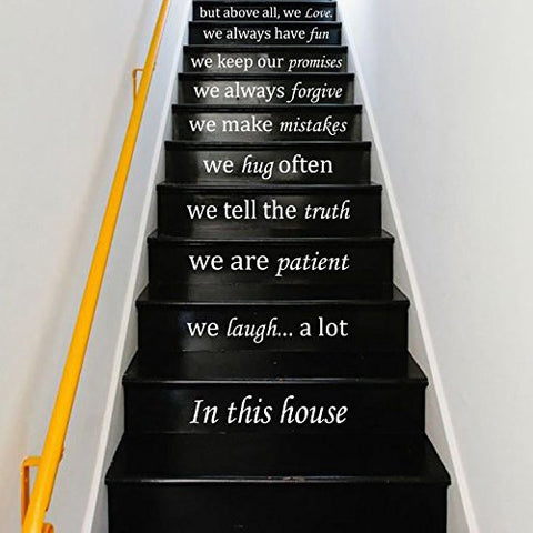 Staircase Decal-in This House - Kreative Decals
