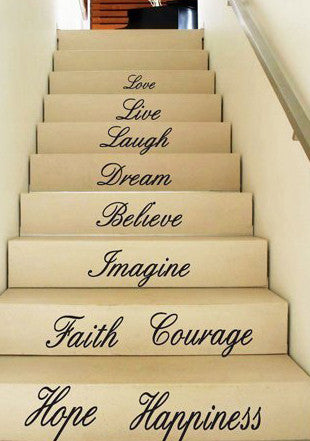 Staircase Decal-Live Laugh Love - Kreative Decals