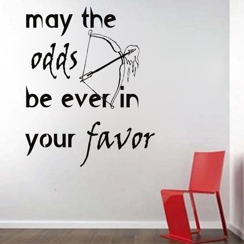 Hunger Games Inspired May the Odds Be Ever in Your Favor - Kreative Decals