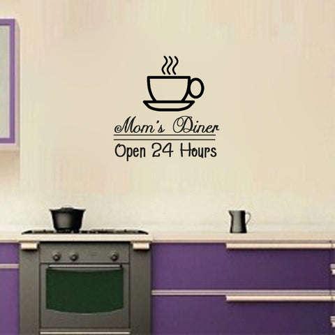 Mom's Diner open 24 hours - Kreative Decals