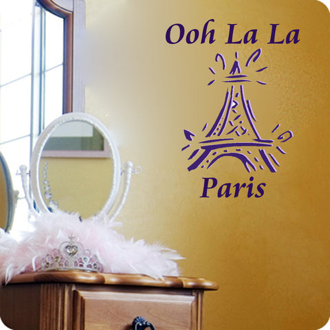 Oh La La Paris Eiffel tower - Kreative Decals
