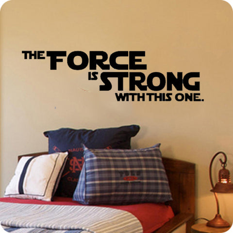 The force is strong with this one-Star Wars - Kreative Decals