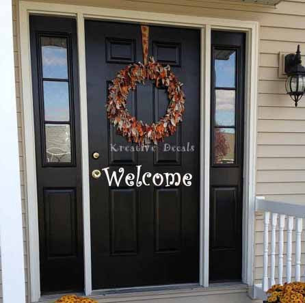 Front Door Decal Welcome - Kreative Decals
