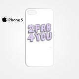2 Fab 4 You for Iphone 4/4S Iphone 5/5S/5C Iphone 6/6S/6S Plus/6 Plus 3D Phone case