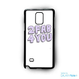 2 Fab 4 You for Samsung Galaxy Note 2/Note 3/Note 4/Note 5/Note Edge phone case