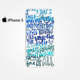 5 Seconds Of Summer Lyrics Amnesia 5SOS for Iphone 4/4S Iphone 5/5S/5C Iphone 6/6S/6S Plus/6 Plus 3D Phone case