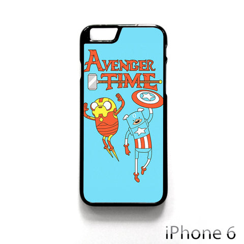Adventure Time The Avenger Captain America And Ironman for Iphone 4/4S Iphone 5/5S/5C Iphone 6/6S/6S Plus/6 Plus Phone case