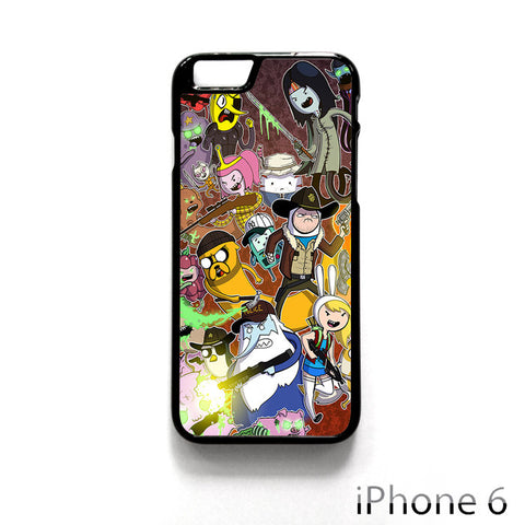 Adventure Time The Walking Dead for Iphone 4/4S Iphone 5/5S/5C Iphone 6/6S/6S Plus/6 Plus Phone case