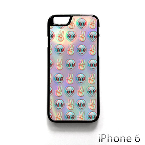 Alien Emoji Peace Background for Iphone 4/4S Iphone 5/5S/5C Iphone 6/6S/6S Plus/6 Plus Phone case