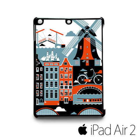 Amsterdam for custom case iPad 2/iPad Mini 2/iPad 3/iPad Mini 3/iPad 4/iPad Mini 4/iPad Air 1/iPad Air 2