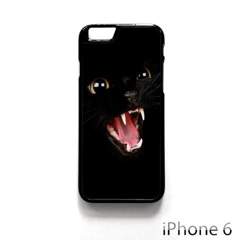 Angry Black Cat for Iphone 4/4S Iphone 5/5S/5C Iphone 6/6S/6S Plus/6 Plus Phone case