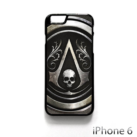 Assassins Creed Black Flag Logo for Iphone 4/4S Iphone 5/5S/5C Iphone 6/6S/6S Plus/6 Plus Phone case