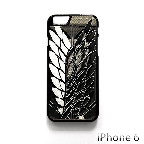 Attack On Titan Legion Logo Carbon for Iphone 4/4S Iphone 5/5S/5C Iphone 6/6S/6S Plus/6 Plus Phone case