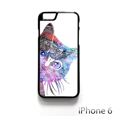 Aztec Cat In Rainbow Color for Iphone 4/4S Iphone 5/5S/5C Iphone 6/6S/6S Plus/6 Plus Phone case