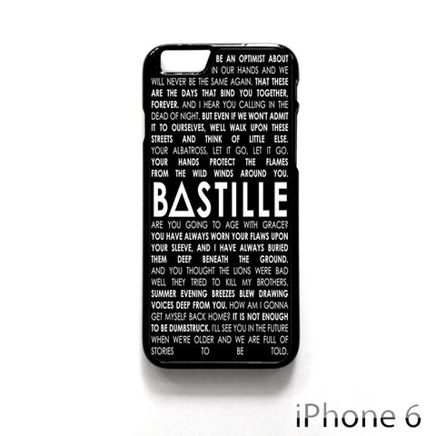 Bastille for Iphone 4/4S Iphone 5/5S/5C Iphone 6/6S/6S Plus/6 Plus Phone case