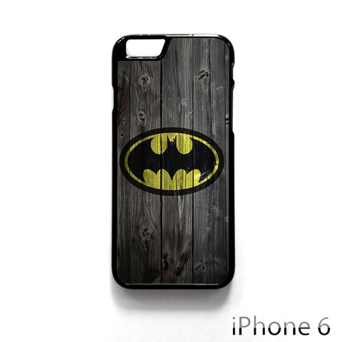 Batman Logo On Wood for Iphone 4/4S Iphone 5/5S/5C Iphone 6/6S/6S Plus/6 Plus Phone case