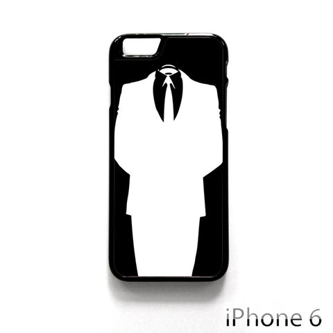 Black and White Anonymous Suit for Iphone 4/4S Iphone 5/5S/5C Iphone 6/6S/6S Plus/6 Plus Phone case