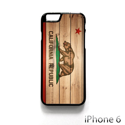California Republic State Flag Wood Design for Iphone 4/4S Iphone 5/5S/5C Iphone 6/6S/6S Plus/6 Plus Phone case