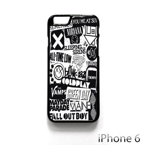 bands tumblr. for Iphone 4/4S Iphone 5/5S/5C Iphone 6/6S/6S Plus/6 Plus Phone case