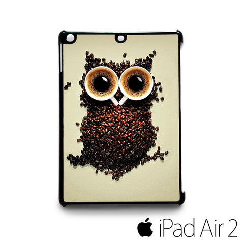minimalism owls coffee coffee beans for custom case iPad 2/iPad Mini 2/iPad 3/iPad Mini 3/iPad 4/iPad Mini 4/iPad Air 1/iPad Air 2
