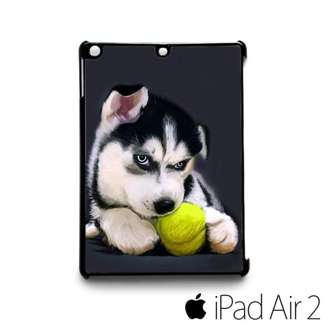 puppy husky picture ball for custom case iPad 2/iPad Mini 2/iPad 3/iPad Mini 3/iPad 4/iPad Mini 4/iPad Air 1/iPad Air 2