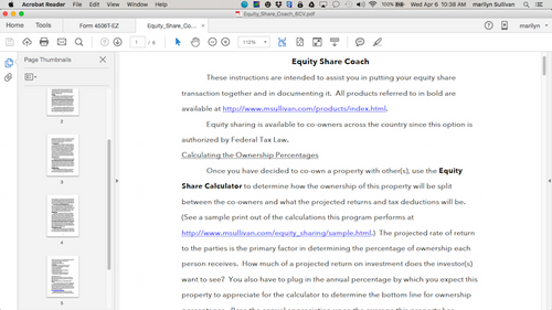 Co-Ownership Equity Sharing Coach
