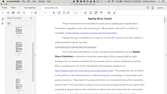 Equity Sharing Coach