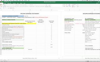 downloadable form income and expense statement calculator law