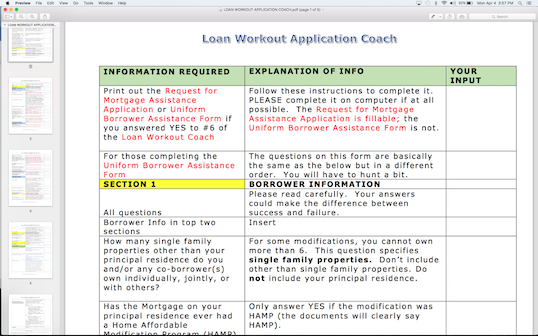 Loan Modification & Short Sale Application Coach