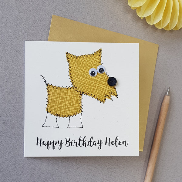 Personalised Dog Embroidered Card