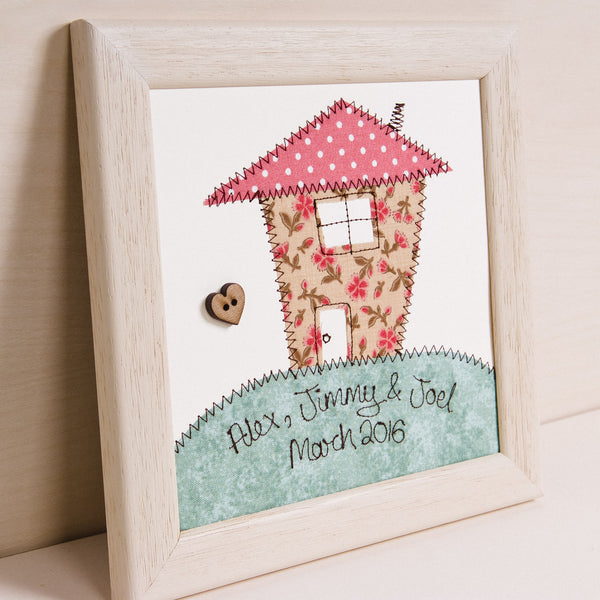 Personalised New Home Embroidered Plaque - ZoeGibbons