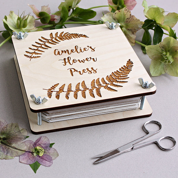 Flower Girl's Personalised Flower Press - ZoeGibbons