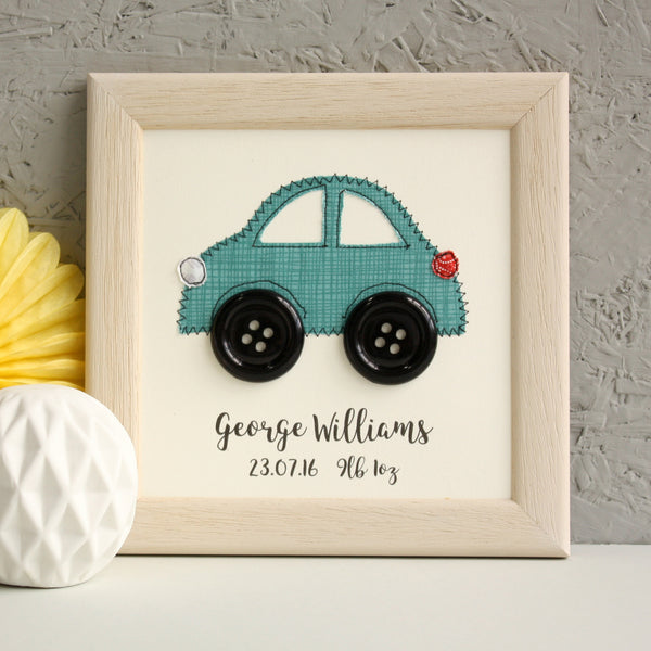 Personalised Car Embroidered Plaque - ZoeGibbons