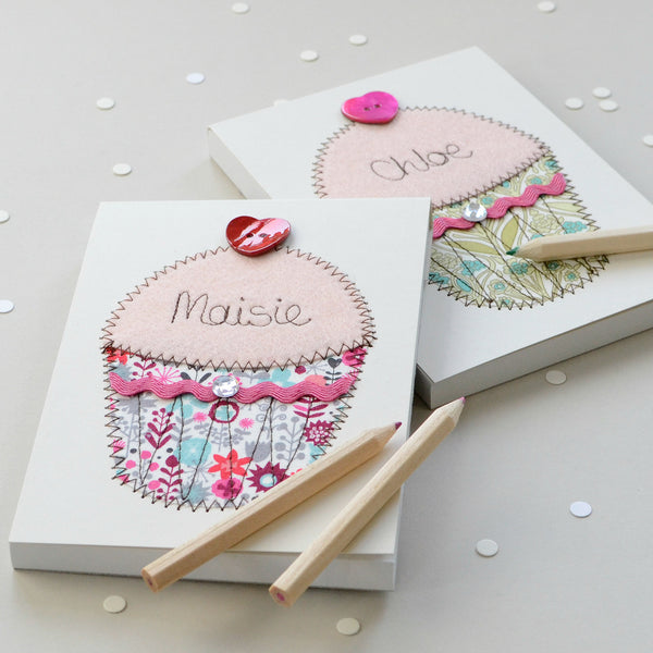 Personalised Cupcake Embroidered Notepad - ZoeGibbons