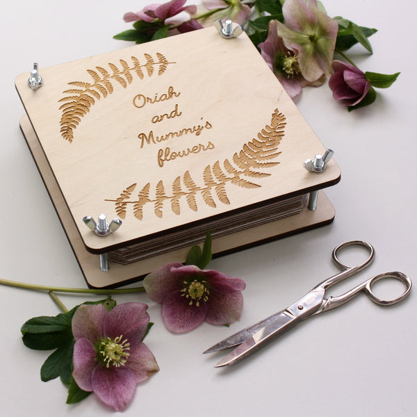 Personalised Botanical Flower Press - ZoeGibbons