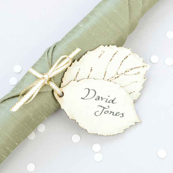 Woodland Leaf Place Card - ZoeGibbons